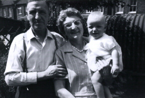 John (1902) and Violet Wappat, with grandson Barry.